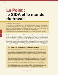 Le Point : le SIDA et le monde du travail - libdoc.who.int
