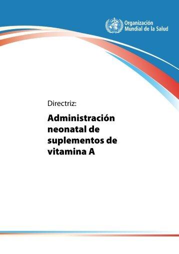 Administración neonatal de suplementos de ... - libdoc.who.int