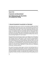 Frankreich und Deutschland Vom Weiterwirken der Geschichte im ...