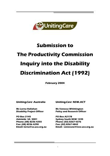 disability discrimination act 1992 An act relating to discrimination on the ground of disability part 1 — preliminary 1 short title this act may be cited as the disability discrimination act 1992.