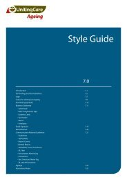 Style Guide: Ageing - UnitingCare NSW.ACT