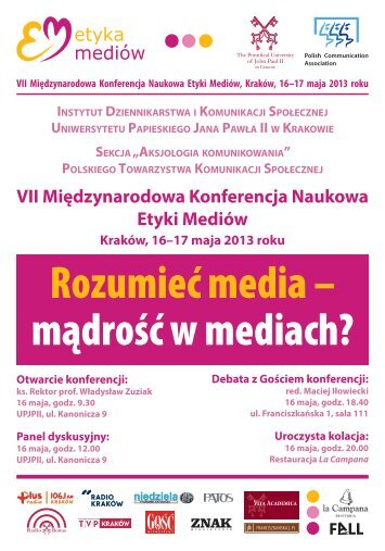 plakaty 2013.indd - Uniwersytet Papieski Jana Pawła II