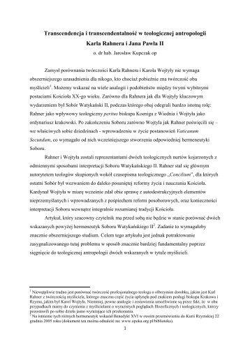 kupczak_transcendenc.. - Uniwersytet Papieski Jana Pawła II