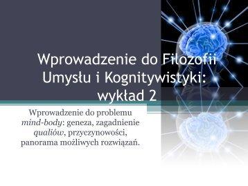 stan mentalny - Filozofia Umysłu i Kognitywistyka