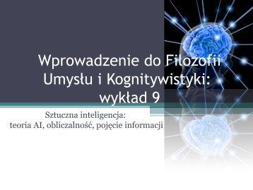 s - Filozofia Umysłu i Kognitywistyka