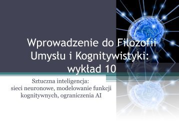 AI - Filozofia Umysłu i Kognitywistyka