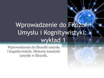 sztuczna inteligencja - Filozofia Umysłu i Kognitywistyka
