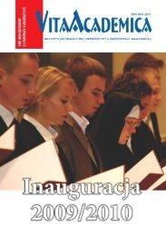Vita Academica 6(54)2009 - Uniwersytet Papieski Jana Pawła II