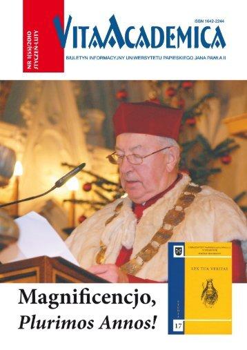 Vita Academica 1(55)2010 - Uniwersytet Papieski Jana Pawła II