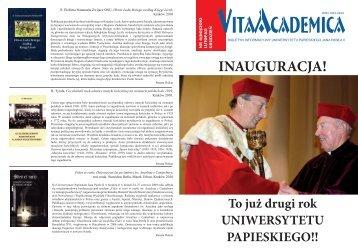 Vita Academica 6(60)2010 - Uniwersytet Papieski Jana Pawła II