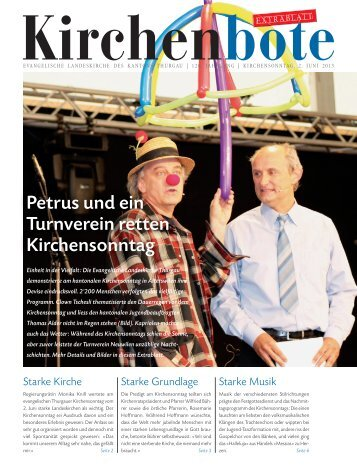 Thurgauer Kirchenbote zum Kirchensonntag 2013 - Evangelische ...