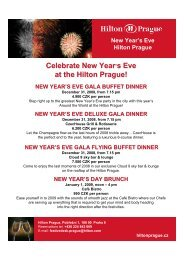 NEW YEAR'S EVE GALA BUFFET DINNER - Expats.cz