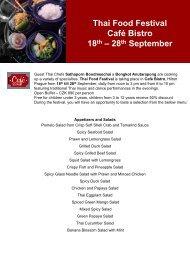 Thai Food Festival Café Bistro 18th – 28th September - Expats.cz