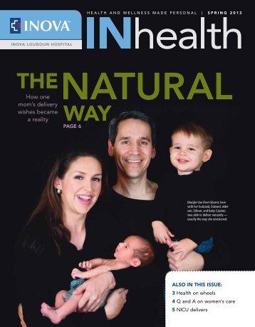 Inova's INhealth Magazine, Spring 2013 - Inova Health System