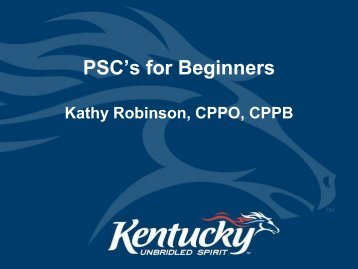 PSC's for Beginners - Kathy Robinson
