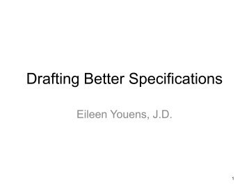 Specification Writing - Eileen Youens - Kentucky Public Procurement ...