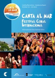Canta al mar 2014 – Festival Coral Internacional - Program Book
