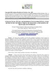 utilização da técnica de remediação eletrocinética para ... - ABPG