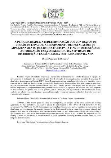 a periodicidade ea indeterminação dos contratos de cessão ... - ABPG