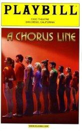 Chorus Line program.pdf - Sandiego - San Diego