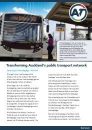 Transforming Auckland's public transport network - Auckland Transport
