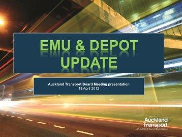 Auckland Transport Board Meeting presentation 18 April 2012