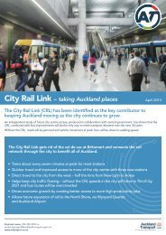 CRL project factsheet - Auckland Transport