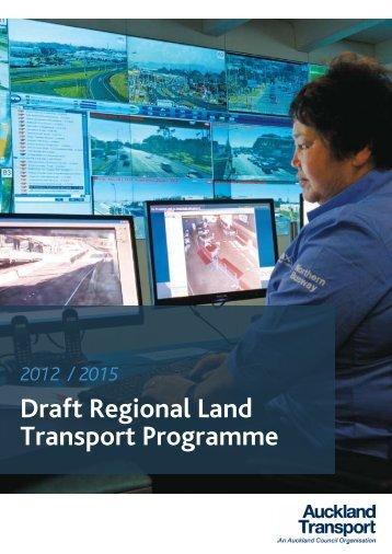 Draft Regional Land Transport Programme - Auckland Transport