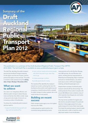 Summary Document - Auckland Transport