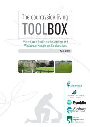 The Countryside Living Toolbox water supply and water - Auckland ...