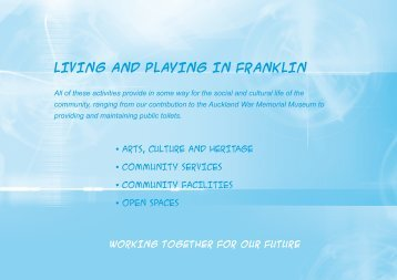 LIVING AND PLAYING IN FRANKLIN - Auckland Transport