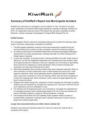 Morningside Report and Summary Here - KiwiRail