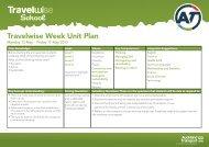Travelwise Week Unit Plan - Auckland Transport