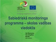 Sabiedriskā monitoringa programma - skolas vadības viedoklis