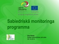 Sabiedriskā monitoringa programma - Dabas aizsardzības pārvalde