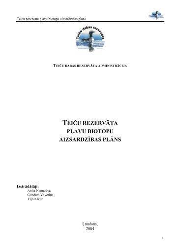 teiču rezervāta pļavu biotopu aizsardzības plāns - Dabas ...