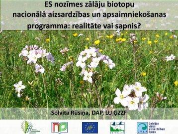 ES nozīmes zālāju biotopu nacionālā aizsardzības un ...