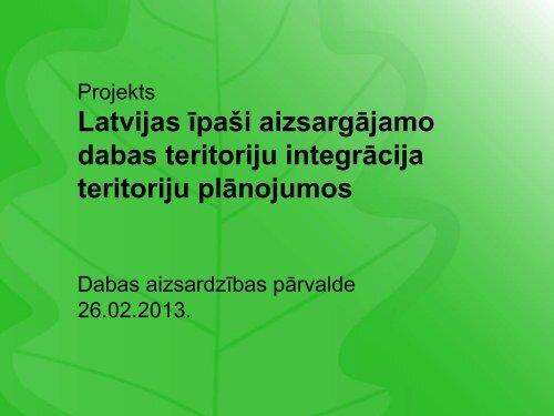 Īpaši aizsargājamo dabas teritoriju dabas aizsardzības plānu ...