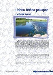 Ūdens tīrības pakāpes noteikšana