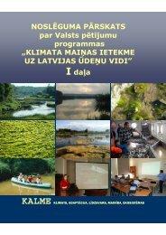 Klimata maiņas ietekme uz Latvijas ūdeņu vidi - Dabas aizsardzības ...