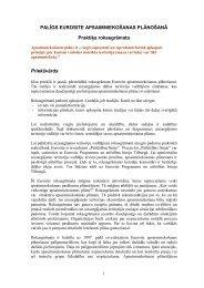 Eurosite ieteikumi dabas aizsardzības plānu izstrādātājiem