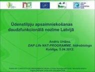 Ūdenstilpju apsaimniekošanas daudzfunkcionālā nozīme Latvijā