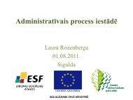 Administratīvais process iestādē - Dabas aizsardzības pārvalde