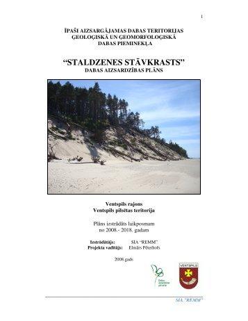 DPM Staldzenes stāvkrasts - Dabas aizsardzības pārvalde
