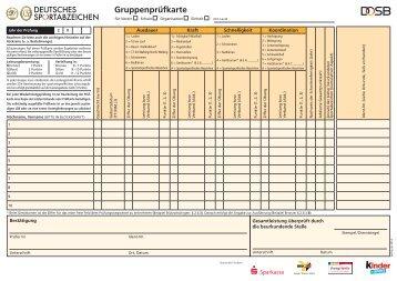DOSB Gruppenprüfkarte A4, (PDF) - Das Sportabzeichen