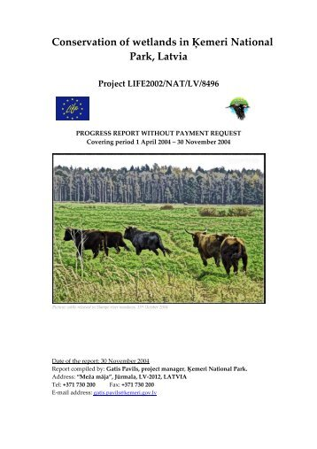 Conservation of wetlands in Ķemeri National Park, Latvia Project ...