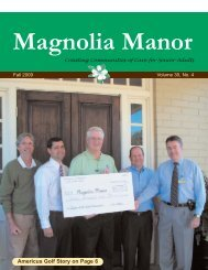 October 2009 Newsletter.qxp - Magnolia Manor