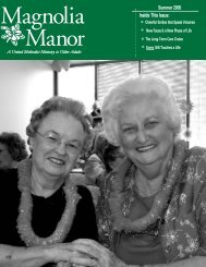 Summer Newsletter 2005.qxd - Magnolia Manor
