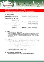 Teilnahmebedingungen für Aussteller der Marathon-Messe des ...