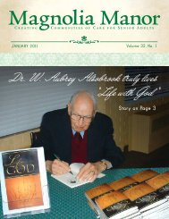"Dr. W. Aubrey Alsobrook truly lives ""Life with God "" - Magnolia Manor"